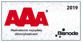 Hodnotenie najvyššej dôveryhodnosti AAA